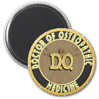 D.O. El DOCTOR vitruvian OSTEOPATHY del hombre de  Imán Redondo 5 Cm