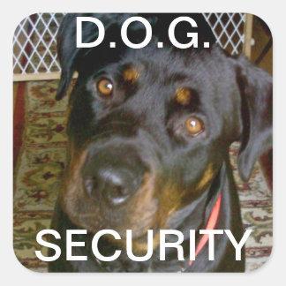 D.O.G. SECURITY Sticker (rottweiler)