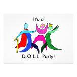D.O.L.L. Party Custom Invitation