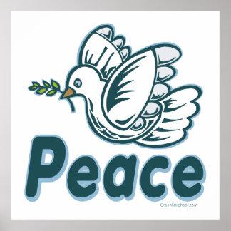 D - Paloma, rama de olivo, paz Posters