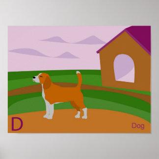 D para el poster del perro