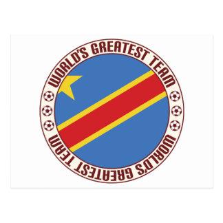 D R Congo Greatest Team Postcard