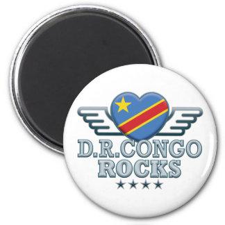 D R Congo Rocks v2 Refrigerator Magnet