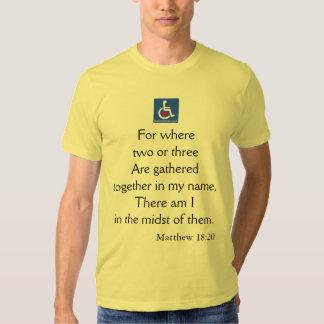 D/R - Matthew 18:20 Quote Shirt