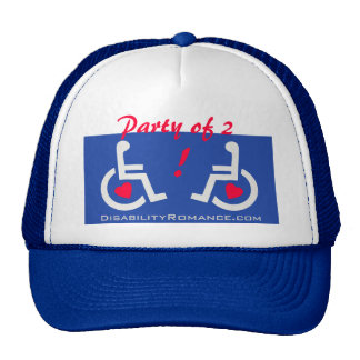 """D/R - """" Party of 2 ! """" Dating Hat"""