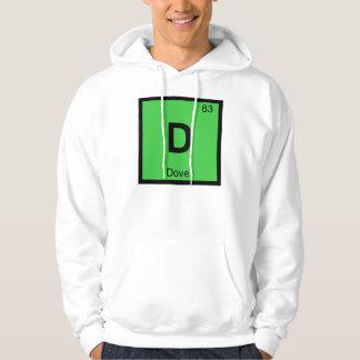 D - Símbolo de la tabla periódica de la química de Sudadera