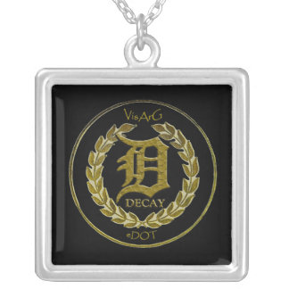 D Stamp (necklace) Square Pendant Necklace