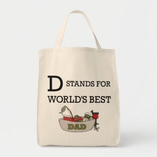 D Stands for Worlds Best Dad Tote Bags