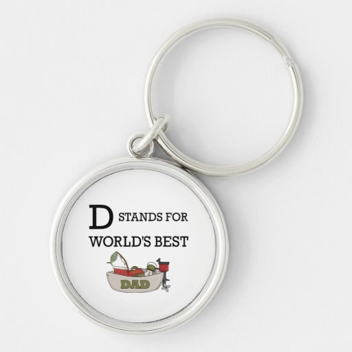 D Stands for Worlds Best Dad Key Chain