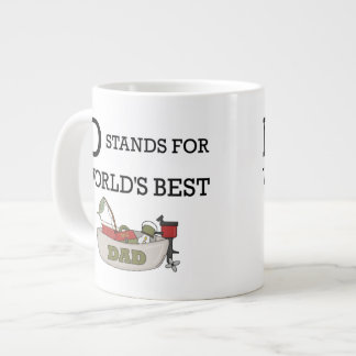 D Stands for Worlds Best Dad Large Coffee Mug