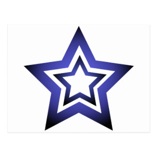 D-Star Blue Postcard