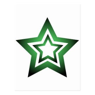 D-Star Green Postcard