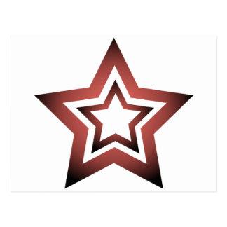 D-Star Red Postcard