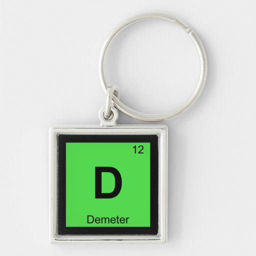 D - Tabla periódica de la química de la diosa del  Llaveros Personalizados