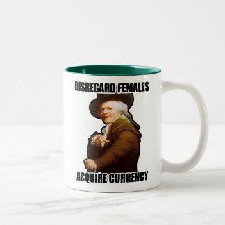 D. Taza de café de las hembras $17,95