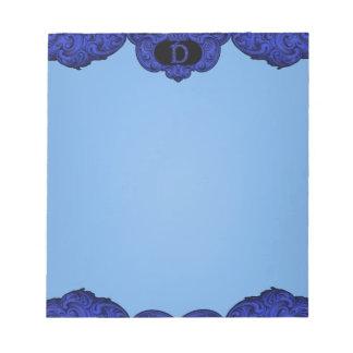 D - The Falck Alphabet (Blue) Note Pad