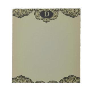 D - The Falck Alphabet (Golden) Note Pad