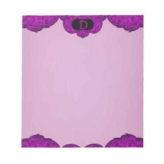 D - The Falck Alphabet (Pink) Note Pad