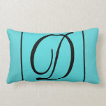 D - The Letter D on Turquoise Background Throw Pillow