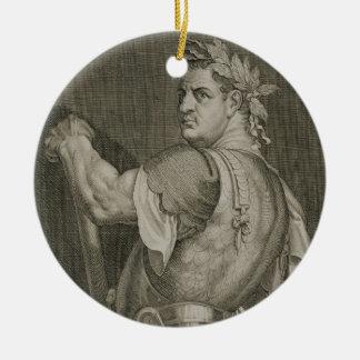 D. Titus Vespasian Emperor of Rome 79-81 AD engrav Ceramic Ornament