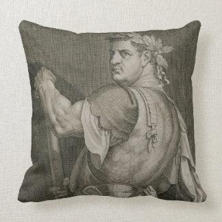 D. Titus Vespasian Emperor of Rome 79-81 AD engrav Throw Pillow