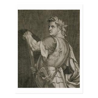 D. Titus Vespasian Emperor of Rome 79-81 AD engrav Postcard