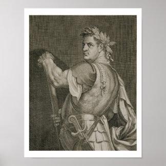 D. Titus Vespasian Emperor of Rome 79-81 AD engrav Poster