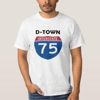 D-Town Detroit Michigan I-75 Highway Sign Shirt