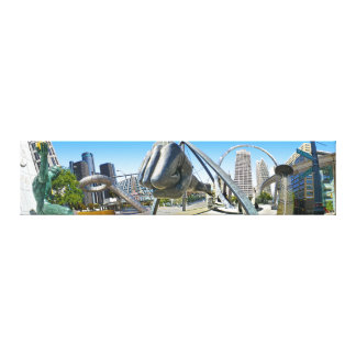 D-town Jungle Gallery Wrap Canvas