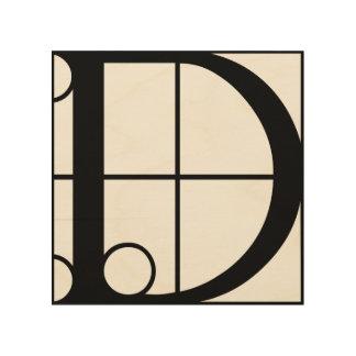 D - Typo-CAPS.png Wood Wall Art