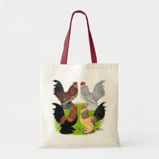 D Uccles Four Roosters Canvas Bag