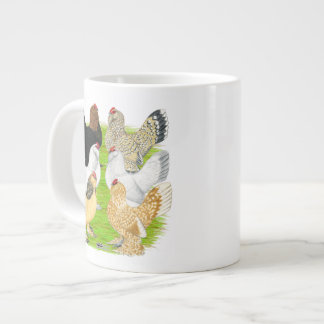 D Uccles seis gallinas Taza Extra Grande