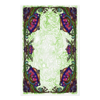 D vines border stationary stationery