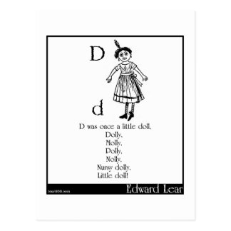 D was once a little doll postcard