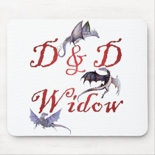 D y viuda Mousepad de D