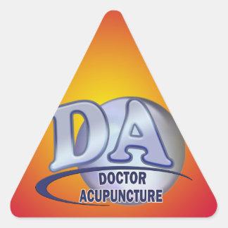 DA ACRONYM LOGO DOCTOR OF ACUPUNCTURE TRIANGLE STICKER