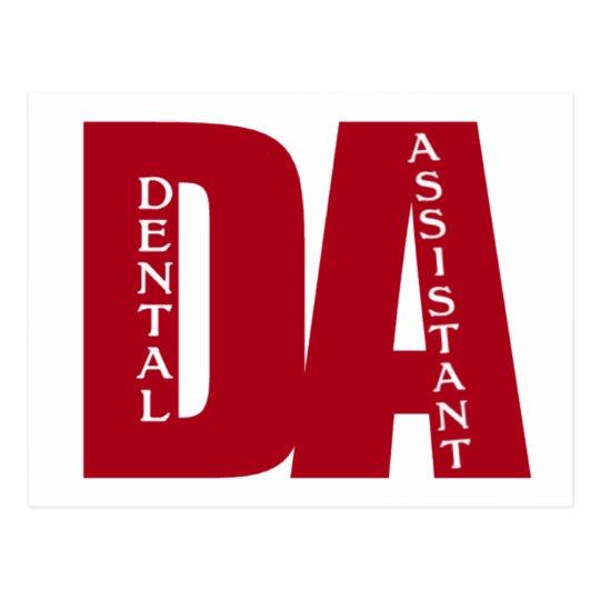 DA - BIG RED BOLD DENTAL ASSISTANT POSTCARD