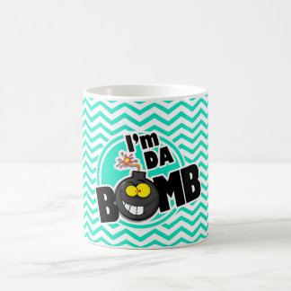 Da Bomb!  Aqua Green Chevron Coffee Mug