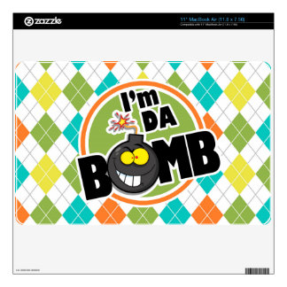 Da Bomb!  Colorful Argyle Pattern Decal For MacBook Air