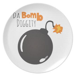 Da Bomb Diggity Melamine Plate
