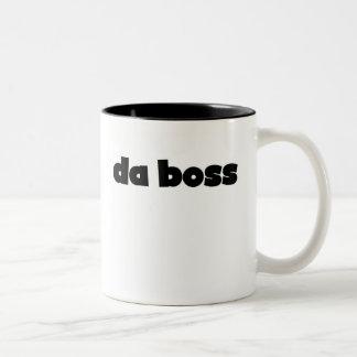 DA Boss Taza De Café De Dos Colores