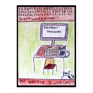 DA CatToon #4 - Cat Hackers  Postcard