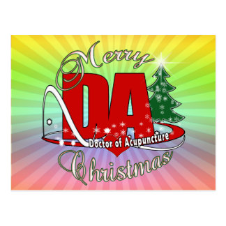 DA CHRISTMAS DOCTOR OF ACUPUNCTURE POSTCARD