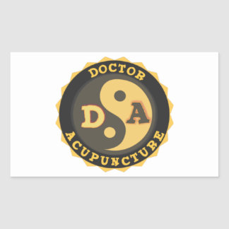 DA DOCTOR OF ACCUPUNCTURE LOGO RECTANGULAR STICKER