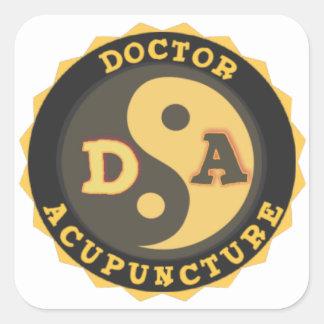 DA DOCTOR OF ACCUPUNCTURE LOGO SQUARE STICKER