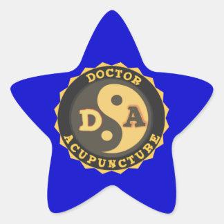 DA DOCTOR OF ACCUPUNCTURE LOGO STAR STICKER