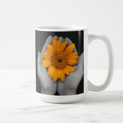 da el girasol de ahuecamiento tazas de café