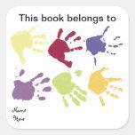 Da este libro pertenece a, pegatina del Bookplate