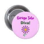 DA- Garage Sale, Diva! Button