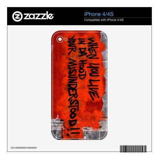 Da' Hood iPhone 4S Skins